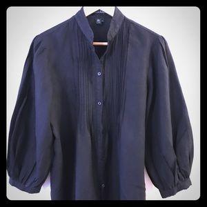 Ralph Lauren 100%Linen Peasant Blouse Sz L